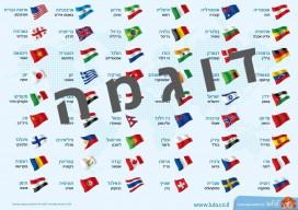 לוח דגלים דוגמה