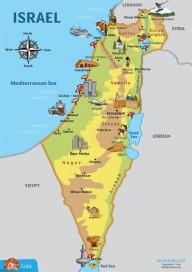 מפת ישראל באנגלית
